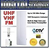 AMPLIFIED HDTV DIGITAL OUTDOOR INDOOR ATSC TV DTV UHF VHF FM ANTENNA by ANI-AV, Inc.