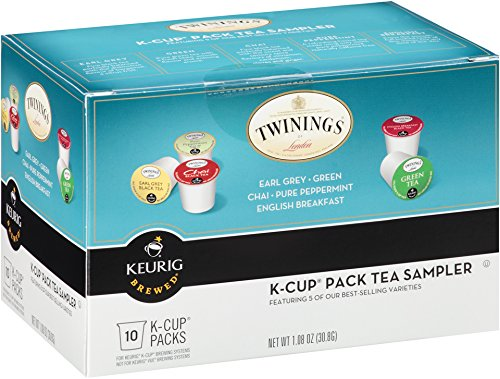 Twinings Of London K-Cup Portion Pack For Keurig K-Cup Brewers Variety Tea, 60 Count (Pack Of 6)