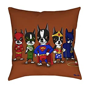 Thumbprintz Square Throw Pillow, 26-Inch, BT Justice League: Amazon.co.uk: Kitchen & Home