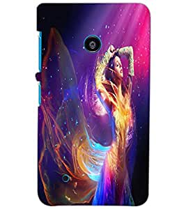 NOKIA LUMIA 530 BEAUTIFUL GIRL Back Cover by PRINTSWAG