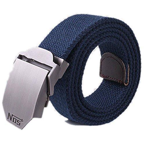 PolarLander NOS Cinture di lusso Belt uomini della tela di canapa esterna equipaggiamento militare Cinturon occidentali uomo cinghia per gli uomini blu