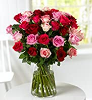 Classic Hot Pink Roses Bouquet