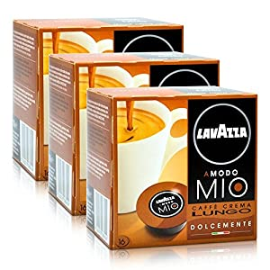 Find 3x Lavazza A Modo Mio Caffe Crema Lungo Dolcemente, 16 Capsules from Lavazza