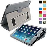 Snugg™ iPad Mini & Mini 2 Case - Smart Cover with Flip Stand & Lifetime Guarantee (Grey Leather) for Apple iPad Mini & Mini 2 with Retina