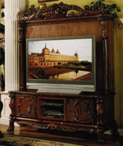 Traditional style flat screen tv entertainment for Furniture of america torena