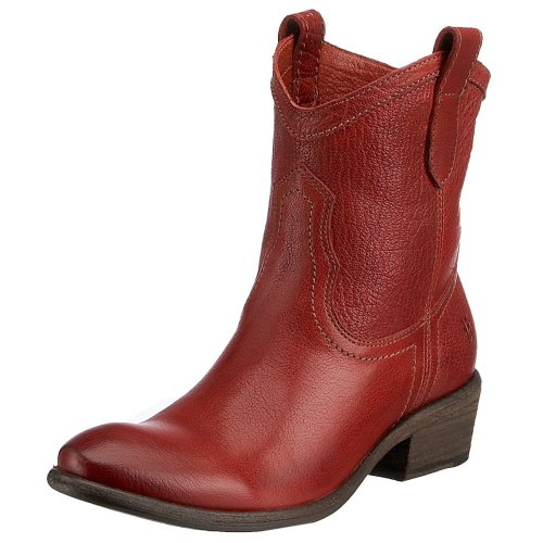 Frye Women's Carson Shortie Boot Burnt Red 77031BUD10 8 UK D