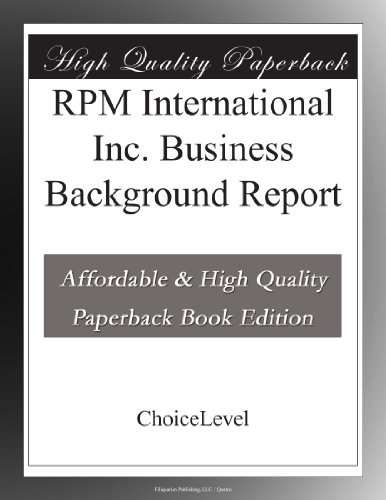 Buy Rpm International Now!