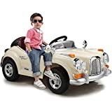 Duplay Classic Roadster 12v Electric Ride On Kids Car with MP3 Plug-In, Working Lights & Sounds Plus Parental Remote Control