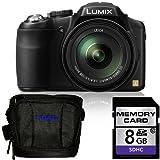 Panasonic Lumix FZ200 Digital Camera + Panasonic Deluxe Carrying Case & 8GB SDHC Class 10 Memory Card