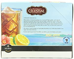 Green Mountain Sweet Lemon Black Perfect Iced Tea, K-Cup Portion Pack for Keurig K-Cup Brewers, 24-Count