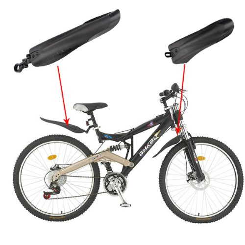 SupperDeal Mountain Bike Bicycle Road Tyre Tire Front Rear Mudguard Fender Set Mud Guard
