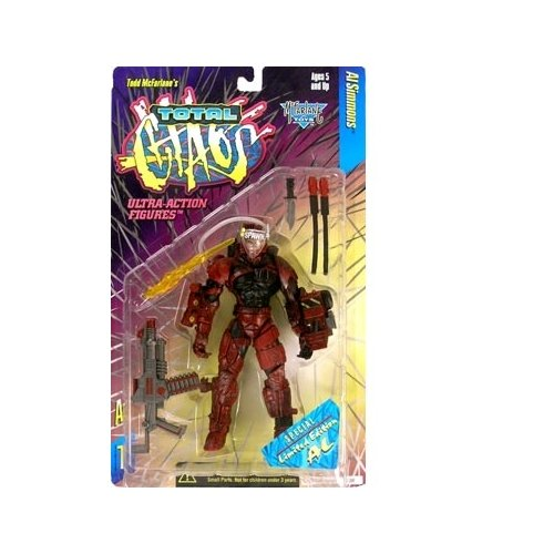 Total Chaos Series 1 Al Simmons (Red Armor Variant) Action Figure