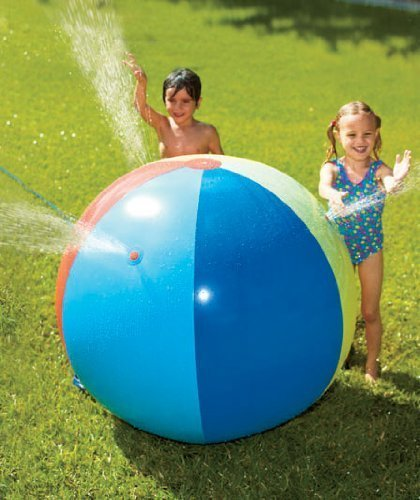 Jumbo 33 Beach Ball Water Fun Sprinkler Lawn & Sand Activity by LSD