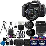 Canon EOS Rebel T6i 24.2MP Digital SLR Camera USA warranty With Canon EF-S 18-135mm f 3.5-5.6 IS STM Lens + 58mm 2x Professional Lens +High Definition 58mm Wide Angle Lens + Auto Power Flash + + UV Filter Kit with 24GB Complete Deluxe Accessory Bundle