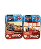Disney Cars Mini Puzzle Set (24pcs) - Cars Travel Puzzle Set in Tin