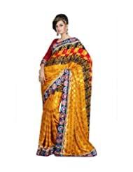 Triveni Designer Fancy Saree With Unstitch Blouse - 11005