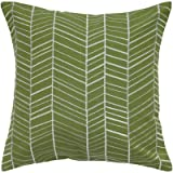 Rizzy Home T05237 Embroidery Decorative Pillow, 18 by 18-Inch, Sage