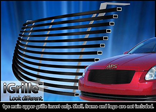 For 2004-2006 Nissan Maxima Stainless Steel Black Billet Grille Insert #N85408J (2005 Maxima Emblem compare prices)
