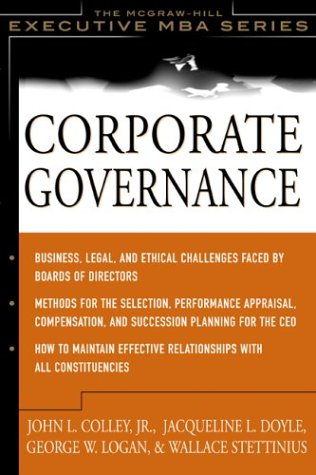 Corporate Governance: The McGraw-Hill Executive MBA Series