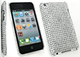 FLASH SUPERSTORE APPLE IPOD TOUCH 4 ( 4TH GEN ) DIAMANTE HARD BACK COVER DIAMANTE SILVER