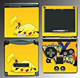 Pokemon X & Y Pikachu Black and White 2 Video Game Vinyl Decal Cover Skin Protector for Nintendo GBA SP Gameboy Advance Game Boy