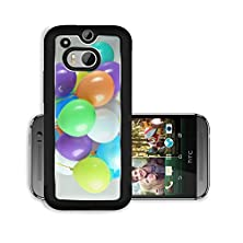 buy Liili Premium Htc One M8 Aluminum Case Colorful Balloons On Grey Background Image Id 22580199