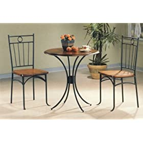 Furniture Interior Metal & Wood Dining Tea Table & Chairs