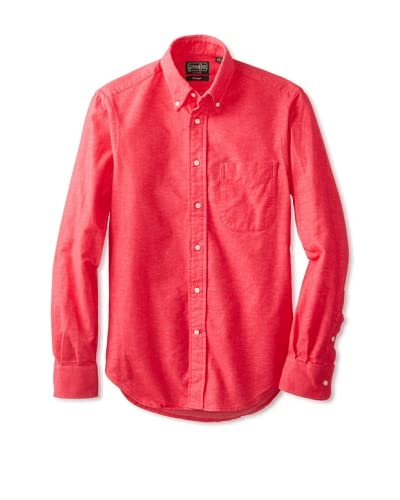 Gitman Vintage Men's Solid Reverse Long Sleeve Button-Down Shirt