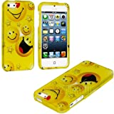 "myLife (TM) Yellow Smiley Faces Series (2 Piece Snap On) Hardshell Plates Case for the iPhone 5/5S (5G) 5th Generation Touch Phone (Clip Fitted Front and Back Solid Cover Case + Rubberized Tough Armor Skin + Lifetime Warranty + Sealed Inside myLife Authorized Packaging) ""ADDITIONAL DETAILS: This two piece clip together case has a gloss surface and smooth texture that maximizes the stylish app at Amazon.com"