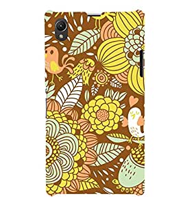 Floral Fruits 3D Hard Polycarbonate Designer Back Case Cover for Sony Xperia Z1 :: Sony Xperia Z1 L39h