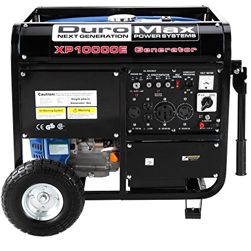 Duromax Xp10000E 10000 Watt 16 Hp Ohv 4-Cycle Gas Powered Gasoline Portable Generator - Generators For Home Use & Camping