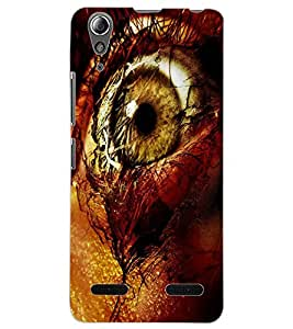 ColourCraft Amazing Eye Design Back Case Cover for LENOVO A6000