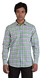 BearBerry Long Sleeve Casual White Shirt (Large)