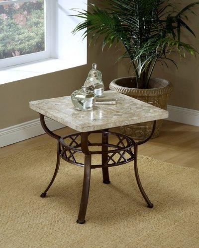 Cheap Brookside Occasional End Table with Fossil Stone Top (AZ00-21336×23391)