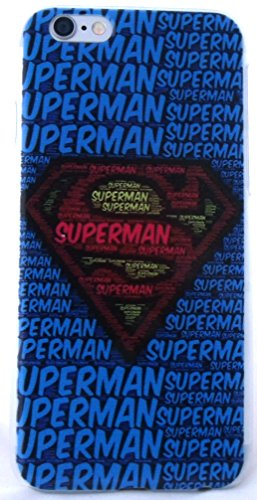 Superhero Classic Designs iPhone 6 Snap-On Cases Featuring Avengers, Superman, Batman, Captain America,Spiderman, or Iron Man (Superman Words)