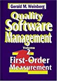 Quality Software Management: First-Order Measurement (0932633242) by Weinberg, Gerald M.