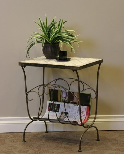 Image of 4D Concepts Travertine Magazine End Table (B0053ZODYG)