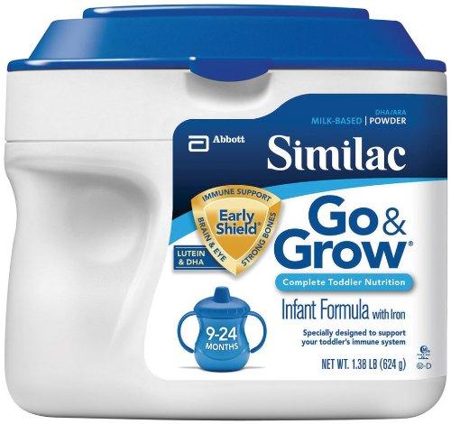 Similac Go & Grow Milk Based Formula, Powder, 22-Ounces (Pack of 6)