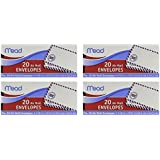 "Meadwestvaco 74260 4-1/8"" X 9-1/2"" #10 Air Mail Envelopes 20 Count (Pack of 4)"