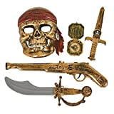 5-piece Halloween Pirate Costume - Mask and Accessories