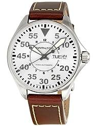 Hamilton Men's H64425555 Khaki Silver Dial Watch