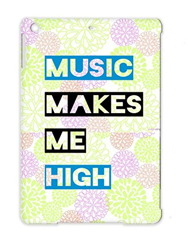 Music Makes Me High Bass Tee Shirts Dance Electronica Music Beats Love Club Party Dj Headphones Navy Case Cover For Ipad Air
