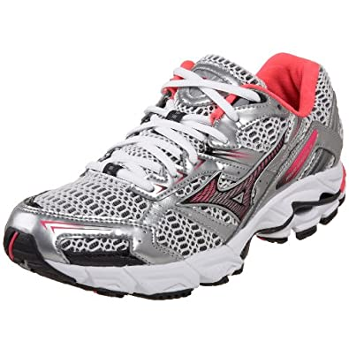 Mizuno Women's Wave Inspire 6 Running Shoe,White/Shocking Pink/Anthracite,10.5 B