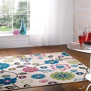 Flair Rugs Element Bohemia Floral Rug, Cream, 120 x 160 Cm by Flair Rugs