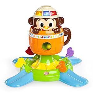 Bright Starts Baby Toy, Hide 'n Spin Monkey by Kids II, Bright Starts