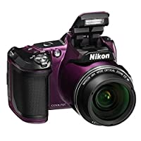 Nikon COOLPIX L840 16.0 Megapixel Digital Camera with 76x dynamic fine zoom, 38X optical zoom VR lens (4.0-152mm) and built-in WiFi - Plum (Certified Refurbished)