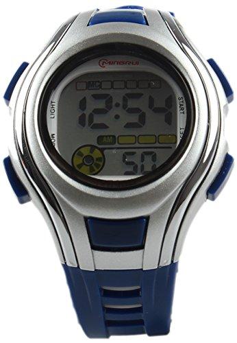 8Years- 1 Stueck Dunkelblau Kinder Armbanduhr Digitaluhr Sportuhr Stoppuhr Wasserdicht