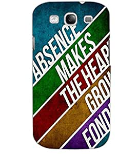 SAMSUNG GALAXY S3 TEXT Back Cover by PRINTSWAG