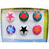 """Home"" Button Sticker for iphone/ipad/itouch, Star, 6 Stickers"
