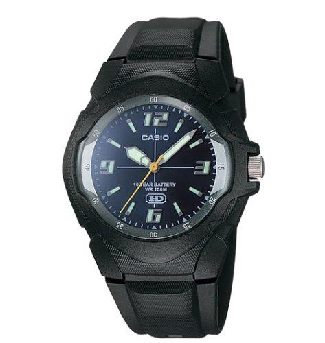 Casio Mens 10-Year Battery Analog Resin Watch #MW600E-2AV